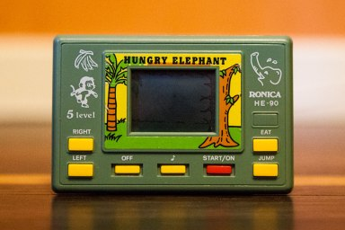 Hungry Elephant handheld game